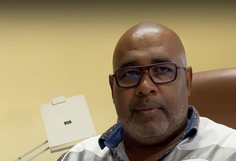 Docteur Portecop chef du service urgence SAMU et du pôle soin critique de Guadeloupe